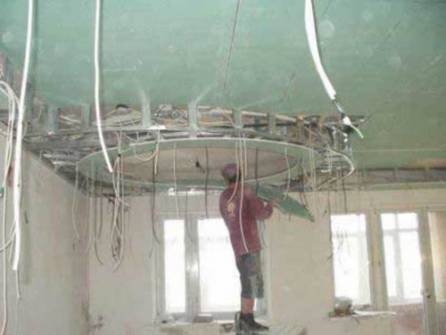 Делаем потолок из гипсокартона своими руками