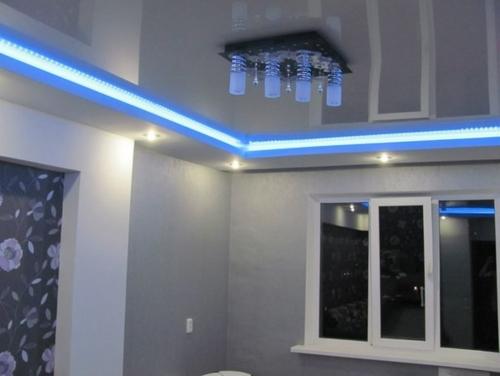 Диодная подсветка потолка
