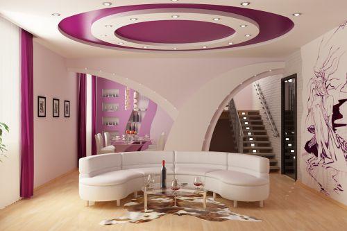 Декор комнат при помощи натяжных потолков