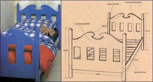Как составить чертеж кровати своими руками