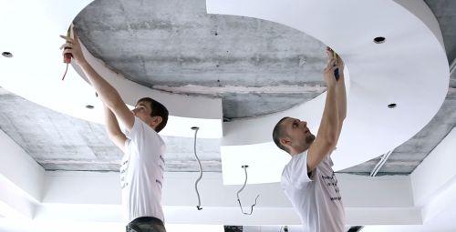 Натяжные потолки и технология установки